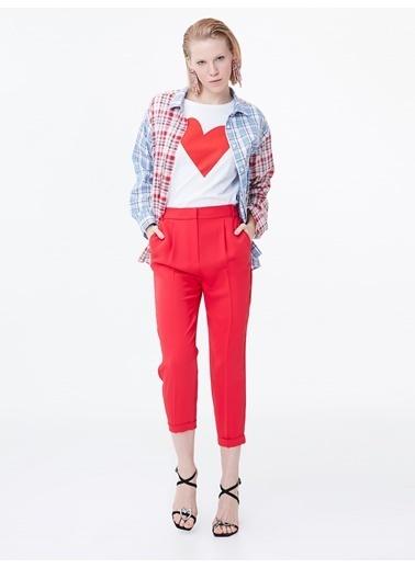 Twist Double Paça Pilili Pantolon Kırmızı